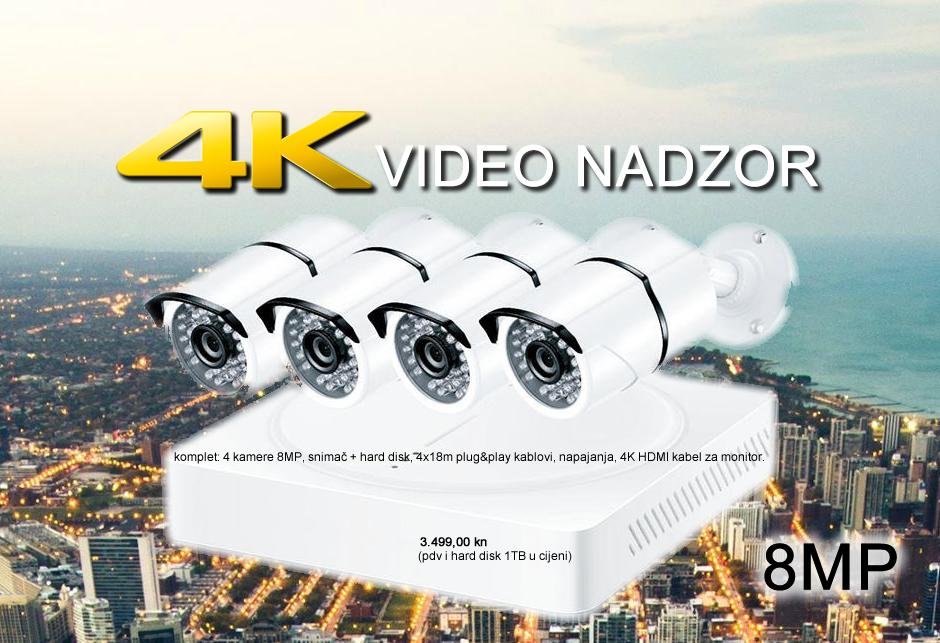 4K SET ZA VIDEO NADZOR