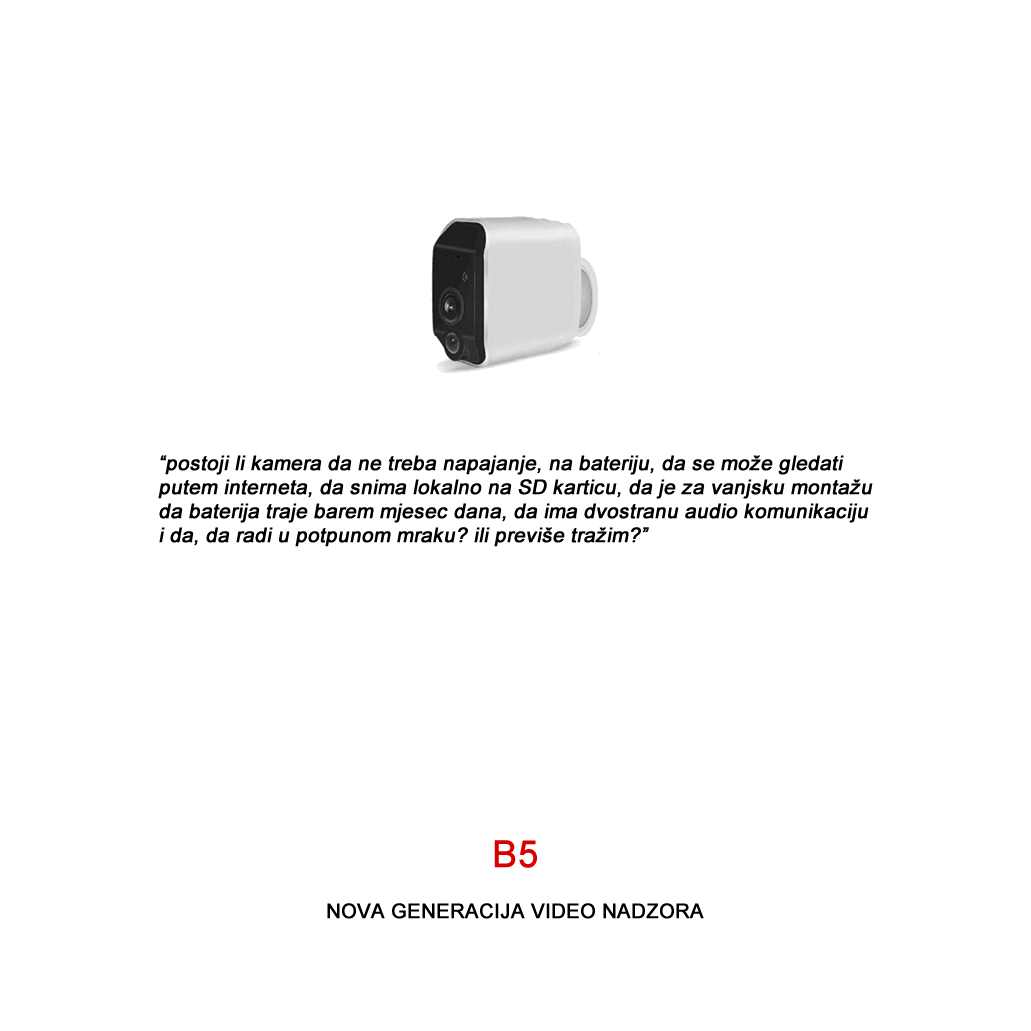 B5-BATERIJSKA KAMERA