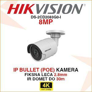 HIKVISION 8MP IP MINI BULLET KAMERA 2.8mm