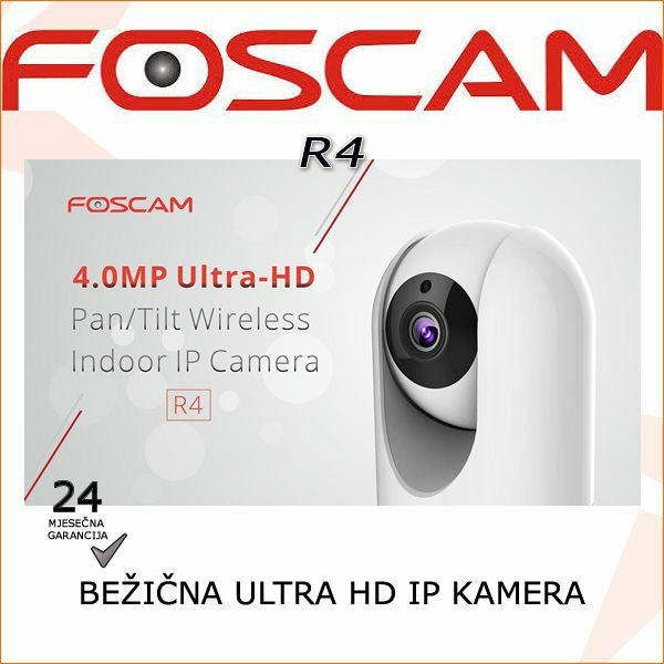 R4 - ULTRA HD BEŽIČNA ROTACIJSKA 4.0MP IP  IR KAMERA