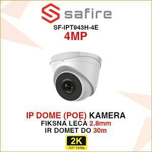 SAFIRE 4MP IP POE DOME KAMERA ZA VIDEO NADZOR