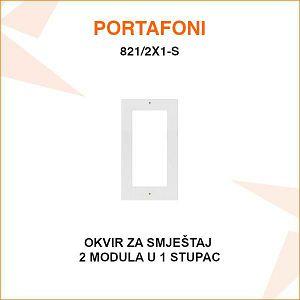 OKVIR ZA 2 MODULA U 1 STUPCU 821/2X1-S