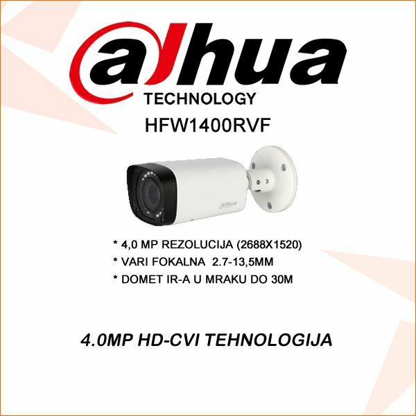4.0 MP DAHUA CVI BULLET KAMERA 2.7-13.5MM