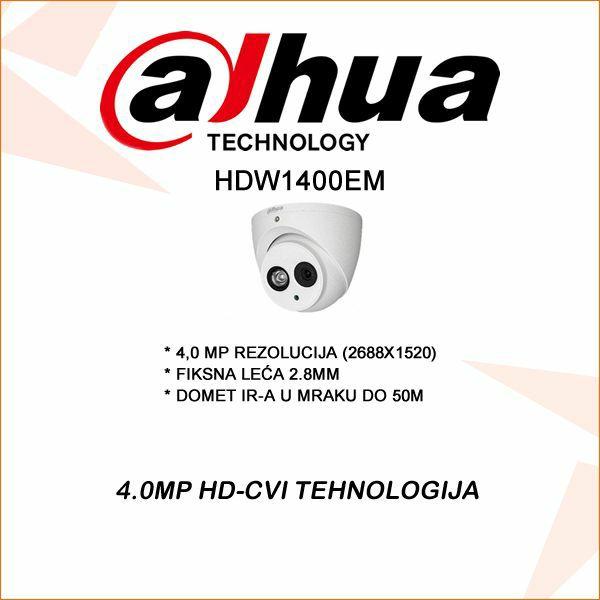 4.0 MP DAHUA CVI DOME KAMERA 2.8MM