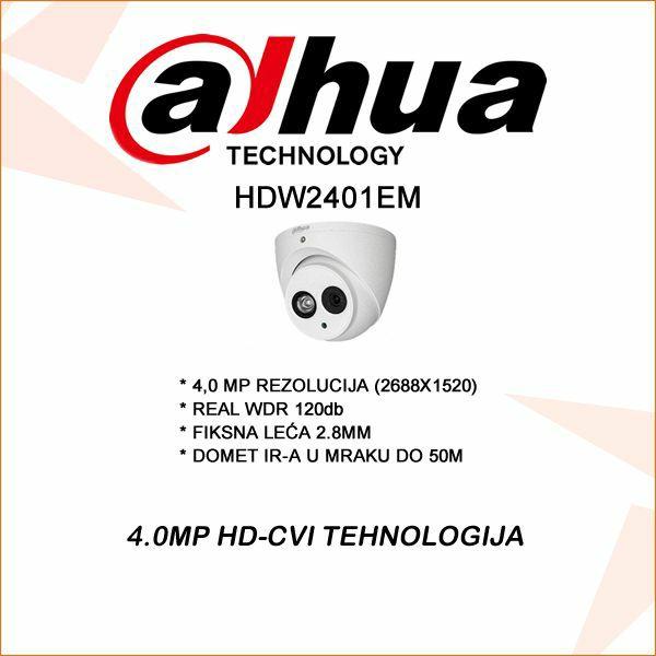 4.0 MP DAHUA CVI KAMERA 2.8MM REAL WDR 120DB