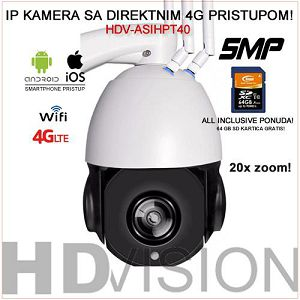 4G IP PTZ KAMERA ZA VIDEO NADZOR 5MP 20X ZOOM-PRO