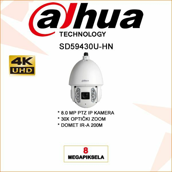 4K DAHUA 8MP PTZ IP KAMERA ZA VIDEO NADZOR