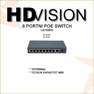 8  PORTNI POE SWITCH 96W