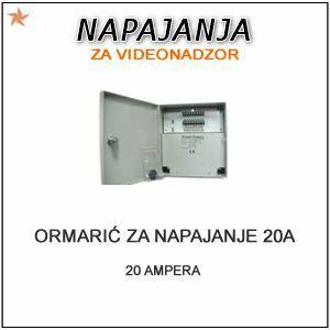 AC/DC ADAPTER ORMARIĆ 220V NA 12V- 20 AMPERA-18 IZLAZA