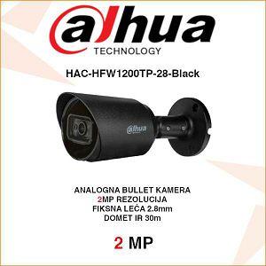 DAHUA 2MP BULLET KAMERA ZA VIDEONADZOR HAC-HFW1200TP-28-Black