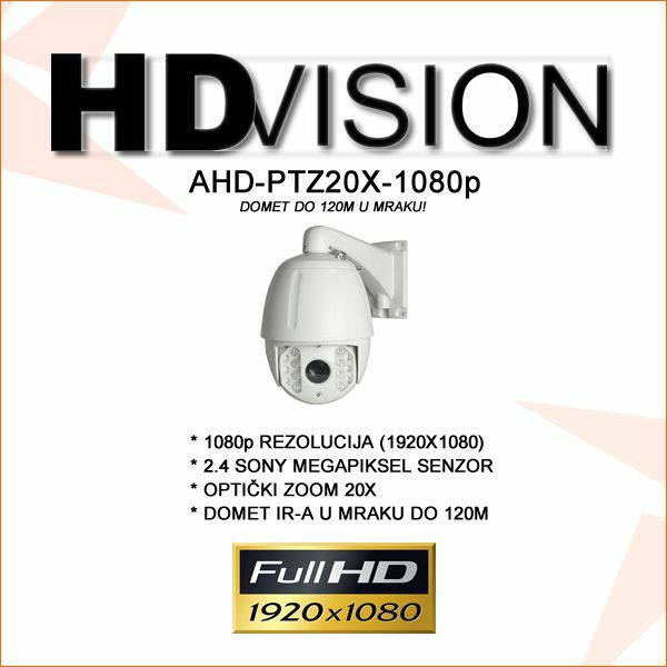 AHD 2.0MP PTZ KAMERA SA DOMETOM 120M