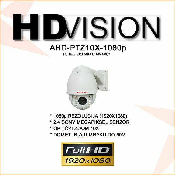 AHD 2.0MP PTZ KAMERA SA DOMETOM 50M