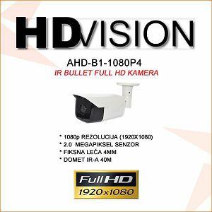 AHD BULLET KAMERA 2.0MP ZA VIDEONADZOR 1080P 3.6MM/40M IR