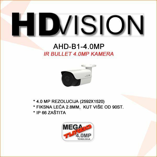 AHD BULLET KAMERA 4.0MP ZA VIDEONADZOR 2.8MM