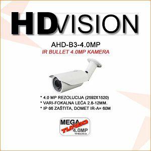 AHD BULLET KAMERA 4.0MP ZA VIDEONADZOR 2.8-12MM-60M IR