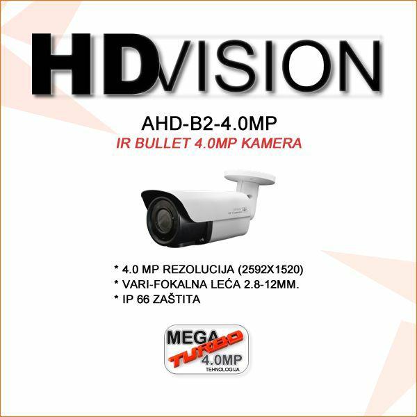 AHD BULLET KAMERA 4.0MP ZA VIDEONADZOR 2.8-12MM