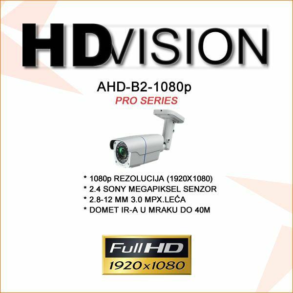 AHD BULLET KAMERA ZA VIDEONADZOR SONY IMX322 1080P 2.8-12MM/40M IR