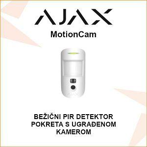 AJAX BEŽIČNI PIR DETEKTOR POKRETA S UGRAĐENOM KAMEROM