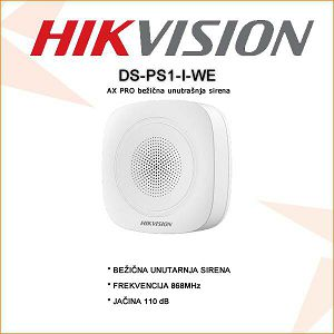 HIKVISION BEŽIČNA UNUTARNJA SIRENA DS-PS1-I-WE