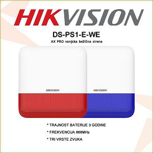 HIKVISION BEŽIČNA VANJSKA SIRENA DS-PS1-E-WE