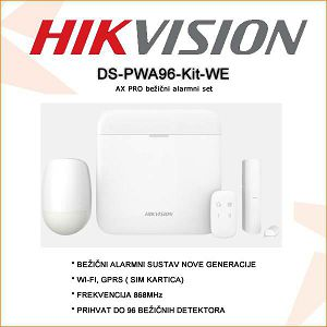 HIKVISION BEŽIČNI ALARMNI KOMPLET DS-PWA96-KIT-WE