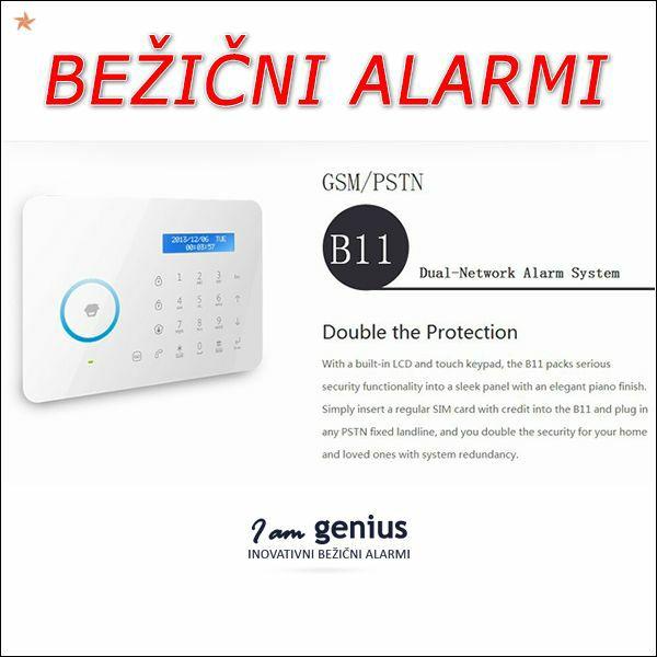 B11- Touchpad bežični alarm sa GSM/TEL. dojavnicima