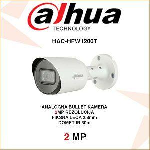 DAHUA 2MP CVI BULLET KAMERA ZA VIDEONADZOR HAC-HFW1200T