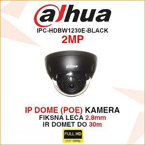 DAHUA 2MP IP DOME KAMERA ZA VIDEONADZOR IPC-HDBW1230E (CRNA)
