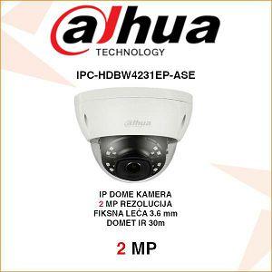 DAHUA 2MP IP DOME KAMERA ZA VIDEONADZOR IPC-HDBW4231EP-ASE