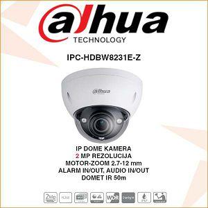 DAHUA 2MP IP DOME MOTOR-ZOOM KAMERA ZA VIDEONADZOR IPC-HDBW8231E-Z