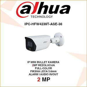 DAHUA 2MP IP FULL-COLOR BULLET KAMERA ZA VIDEONADZOR IPC-HFW4239T-ASE-36