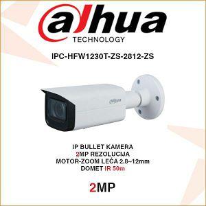 DAHUA 2MP IP MOTOR-ZOOM BULLET KAMERA ZA VIDEONADZOR IPC-HFW1230T-ZS-2812-ZS