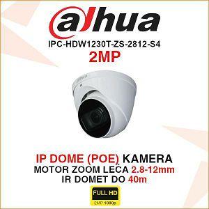 DAHUA 2MP IP MOTOR-ZOOM DOME KAMERA ZA VIDEONADZOR IPC-HDW1230T-ZS-2812-S4