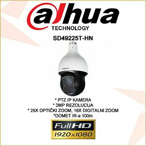 DAHUA 2MP IP PTZ KAMERA SD49225T-HN