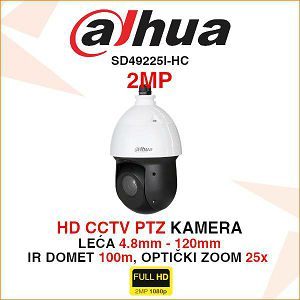 DAHUA 2MP PTZ KAMERA SD49225I-HC