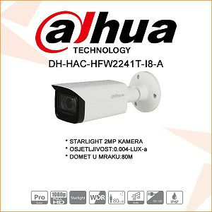 DAHUA 2MP STARLIGHT 80M IR KAMERA