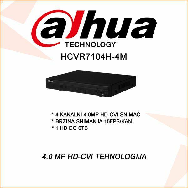 DAHUA 4.0 MP 4 KANALNI DVR