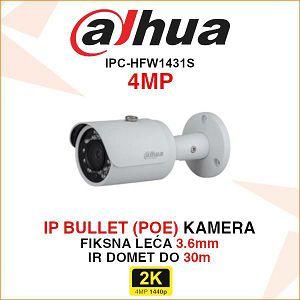 DAHUA 4MP IP BULLET KAMERA ZA VIDEONADZOR 3.6mm IPC-HFW1431S