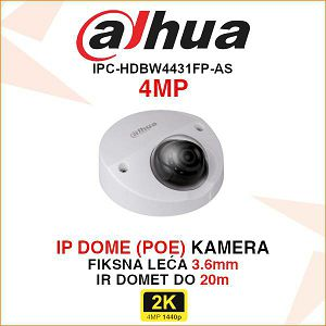 DAHUA 4MP IP MINI DOME KAMERA ZA VIDEONADZOR IPC-HDBW4431FP-AS