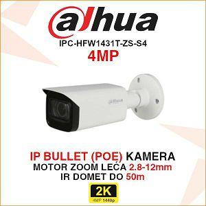 DAHUA 4MP IP MOTOR-ZOOM BULLET KAMERA ZA VIDEONADZOR IPC-HFW1431T-ZS-S4
