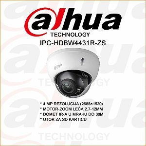 DAHUA 4MP IP  MOTOR-ZOOM DOME KAMERA