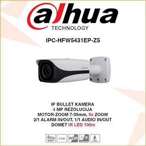 DAHUA 4MP WDR IR MOTOR ZOOM BULLET IP KAMERA ZA VIDEONADZOR IPC-HFW5431EP-Z5