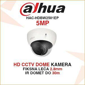 DAHUA 5MP DOME KAMERA ZA VIDEO NADZOR HAC-HDBW2501EP