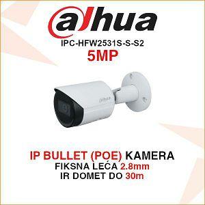 DAHUA 5MP IP BULLET KAMERA ZA VIDEONADZOR IPC-HFW2531S-S-0280B-S2
