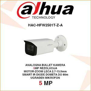 DAHUA 5MP STARLIGHT HDCVI BULLET MOTOR-ZOOM KAMERA ZA VIDEONADZOR HAC-HFW2501T-Z-A