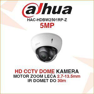 DAHUA 5MP STARLIGHT HDCVI DOME MOTOR-ZOOM KAMERA ZA VIDEONADZOR HAC-HDBW2501RP-Z