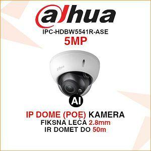 DAHUA 5MP WDR IR DOME AI KAMERA ZA VIDEONADZOR IPC-HDBW5541R-ASE
