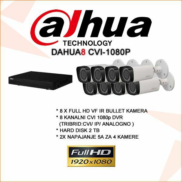 DAHUA 8 KANALNI CVI KOMPLET 1080P
