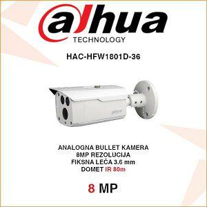 DAHUA 8MP CVI 4K BULLET KAMERA ZA VIDEONADZOR HAC-HFW1801D-36