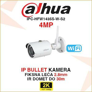 DAHUA BEŽIČNA KAMERA 4MP IPC-HFW1435S-W-S2